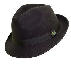 fedora hats   Wool Felt Fedora Hat Chocolate