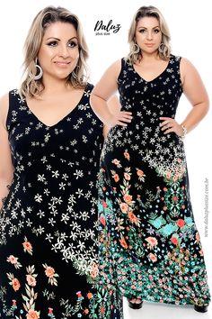 Vestido Plus Size - Coleção Alto Verão 2018 - www.daluzplussize.com.br