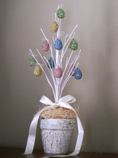 creating in glass slippers: Easter Tree