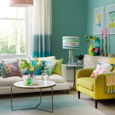 Looking for living room colour schemes? These are our pick of the best bright and bold living room colour schemes for every style Good Living Room Colors, Bold Living Room, Living Room Turquoise, Colourful Living Room, Living Room Color Schemes, Living Room Green, Living Room Paint, Living Room Modern, Living Room Interior