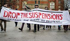 Noam Chomsky and Ken Loach criticise University of Birmingham suspensions