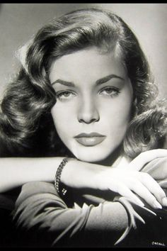 Lauren Bacall, 1940's.  One of the most handsome women ever in Hollywood.  ~ ♥