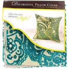 """17"""" x 17"""" Turquoise Velvet Natural Pillow Cover"""