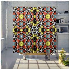 Shower Curtain Bathroom Curtains, Samba, Planter Pots, Sunday, Shower, Retro, Holiday Decor, Home Decor, Rain Shower Heads