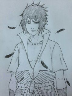 by JainaNaberrie on DeviantArt Naruto Drawings, Sasuke Drawing, Naruto Sketch Drawing, Anime Drawings Sketches, Anime Sketch, Manga Drawing, Cool Drawings, Anime Naruto, Naruto Fan Art