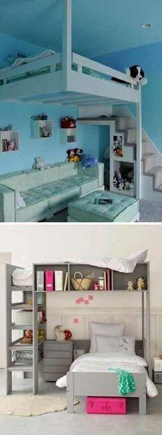 Space saving idea: bunk beds