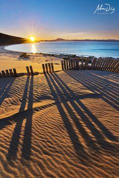 Sunrise at Tarifa beach in Cádiz, Andalucía_ Spain