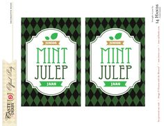 Junior Mint Julep Jars Printable