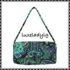 """VERA BRADLEY Shoulder Bag in Blue Rhapsody Clean inside out. Magnetic flap closure. Has one zipped and two large slide pockets inside. One zipped pocket at the back. Approximately measures 6 3/4""""H x 12 1/2""""W x 2 1/2""""Depth with  9 3/4"""" strap drop. Items in my closet are all packed. Most offers are accepted. Vera Bradley Bags Shoulder Bags"""