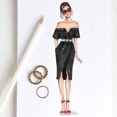 Style of Brush by Gizem Kazancigil gizem kazancigil ( Fashion Design Sketchbook, Fashion Design Drawings, Fashion Sketches, Dress Design Drawing, Dress Drawing, Sketch Drawing, Fashion Drawing Dresses, Fashion Dresses, Fashion Moda