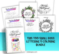 """This too shall pass"" is a quote quite fitting for the time being. That's why I decided to turn it into practice lettering and coloring worksheets. Flourish Calligraphy, Calligraphy Worksheet, Brush Pen Calligraphy, Calligraphy Practice, Calligraphy Quotes Motivation, Calligraphy Quotes Scriptures, Coloring Sheets, Coloring Pages, Coloring Worksheets"