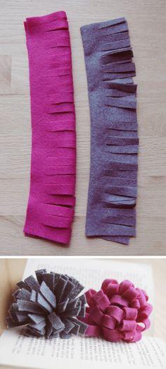 loopy felted flowers <3  http://papernstitchblog.com/2011/12/14/diy-felt-flowers-five-ways/