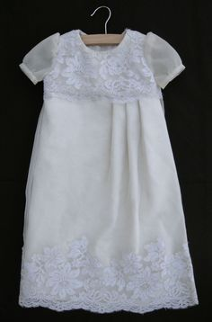 J.W.K Style: Made With Love! - Turning your wedding dress into your daughter's christening gown...just stunning!