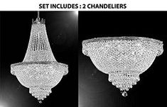 This beautiful Chandelier is trimmed with Empress Crystal(TM) 100% CRYSTAL CHANDELIER, this chandelier is characteristic of the grand chandeliers which decorate