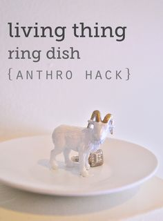 And this ring dish is the perfect alternative to buying someone actual jewelry. | 38 DIY Gifts People Actually Want