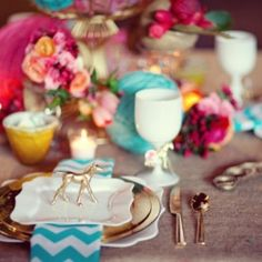 Wedding inspiration: Magenta, teal and gold - Oh my!