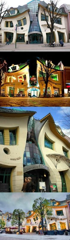 The Crooked House in Sopot, Poland. Head to Poland to see more cool architecture! https://www.euroventure.eu/