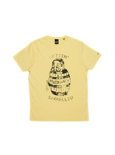 YELLOW BARRELED TEE http://www.hungover.in/
