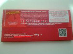 Invitacion Tableta de Chocolate Reverso