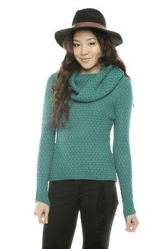 Green Turtleneck Sweater