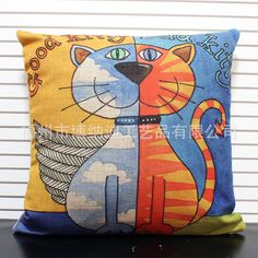 45X45CM Cute Cat Cartoon Sofa Cushion For Kids