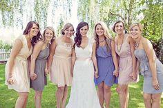 Neutral bridesmaids in the Schurk/Williams wedding