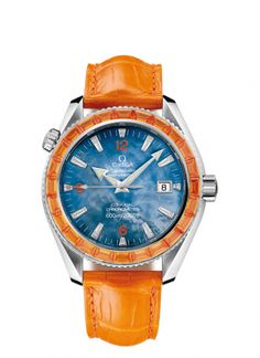 2912.50.48 : Omega Seamaster Planet Ocean 600M Co-Axial 42 Mécanique 24 Sapphires / Ladies