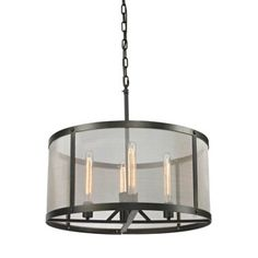 Check out this item at One Kings Lane! Charleston Mesh 4-Light Chandelier, Iron