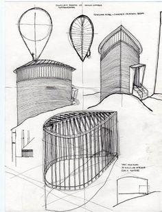 Sketches. Saint Benedict Chapel. 1988. Peter Zumthor. Sumvitg, Graubünden, Switzerland                                                                                                                                                                                 More