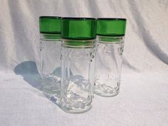 Hey, I found this really awesome Etsy listing at https://www.etsy.com/listing/245426349/set-of-3-vintage-bottles-with-a-green