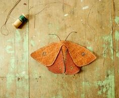 Textile moth handmade by Willowynn