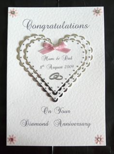 Personalised Diamond 60th Wedding Anniversary Card