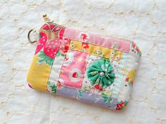 patchwork pouch for mom by zakkaart, via Flickr