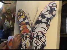 step by step film painting a butterfly ..... (4:54 sped-up to not lose time. Interesting song lyrics, too.)