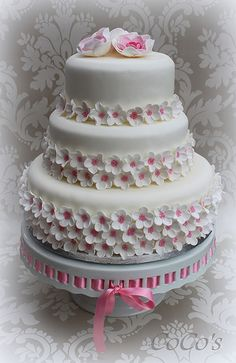 Coco's cherry blossom wedding cake
