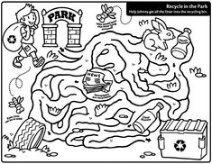 recycling coloring page | recycling coloring pages and activities