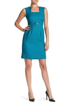 Tahari - Sleeveless Square Neck Sheath Dress at Nordstrom Rack. Free Shipping on orders over $100.