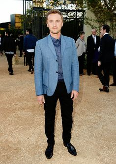 """Tom Felton attends the Burberry """"London in Los Angeles"""" event at Griffith Observatory on April 16, 2015 in Los Angeles, California."""