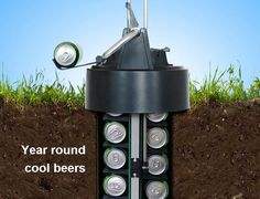 eCool Beer Cooler Keeps Your Drinks Cool Underground