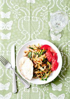 Cafe Johnsonia: Recipe For Garden Vegetable Breakfast Hash