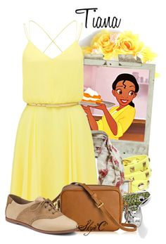 """Tiana - Spring - Disney's Princess and the Frog"" by rubytyra ❤ liked on Polyvore featuring Disney, La Mer, Forever New, Thomas Sabo, GiGi New York, Sperry Top-Sider, Spring, disney, disneybound and PrincessAndTheFrog"