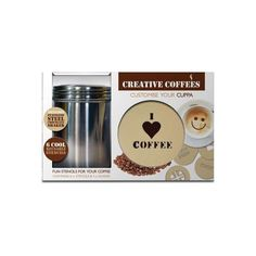 Zestaw szablonów do dekoracji kawy