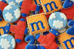 clouds, planes, #3 and initial cookies