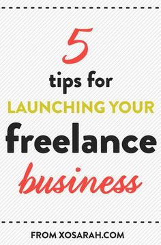 Five tips for starting your own freelance business #freelance #smallbiz #smallbusiness. Create your own website! It's FREE! theshoalsapp.com