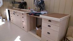 Norm inspired miter/RAS bench and storage
