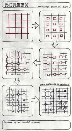 zentangle patterns: #zentangle #drawing #line