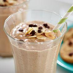Enjoy this lightened version of a cookie dough milkshake (YUM!)