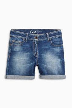 Dark Denim Curve Shorts