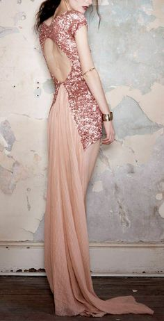 sparkle backless gown / Aje