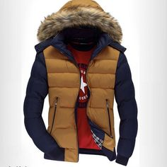 49.19$  Watch here - http://alik6v.shopchina.info/go.php?t=32388275838 - Free Shipping New Men in Winter Fashion High-Grade Large Raccoon Fur Collar Winter Thickening Cotton-Padded Jacket For Men  #aliexpress